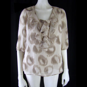 Ann Taylor Silk Frilled Top with Camisole - SP